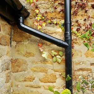 Close up of the new guttering