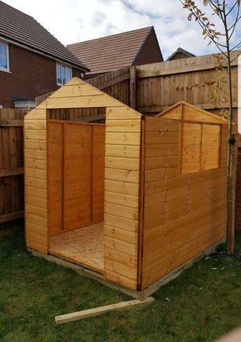 Building a shed before